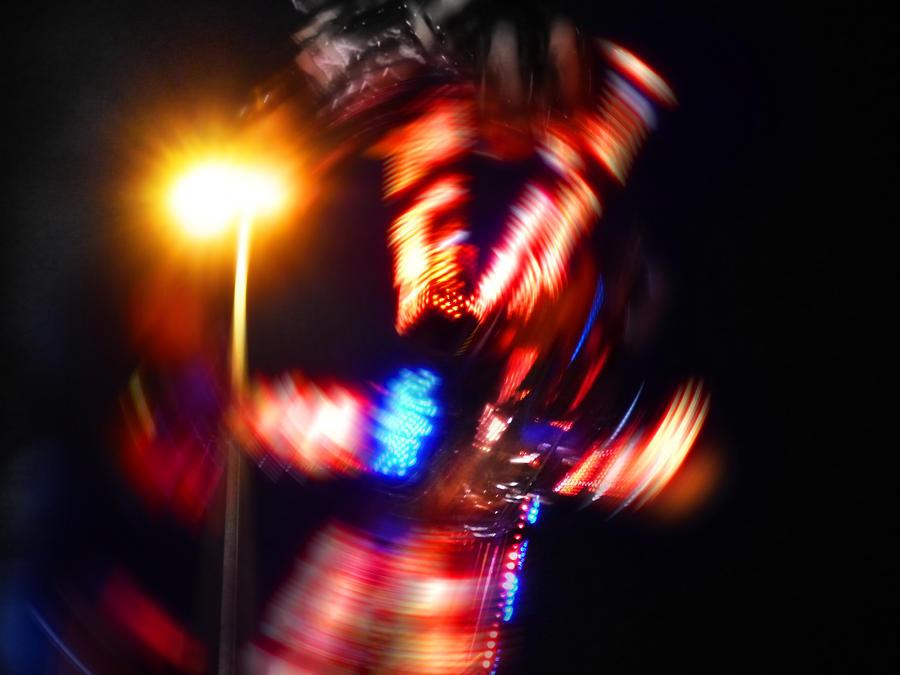 Lights Digital Art - Spin Two by Charles Stuart