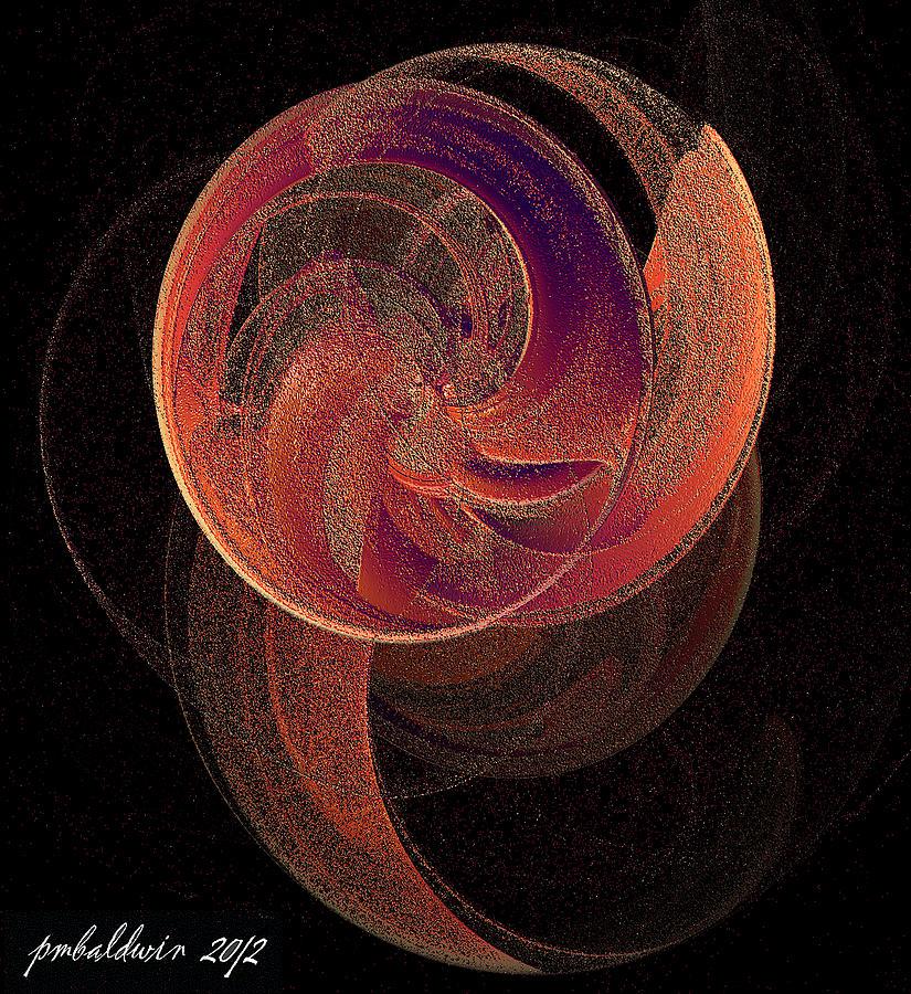 Fractal Digital Art - Spinning Planet by Patrice Baldwin