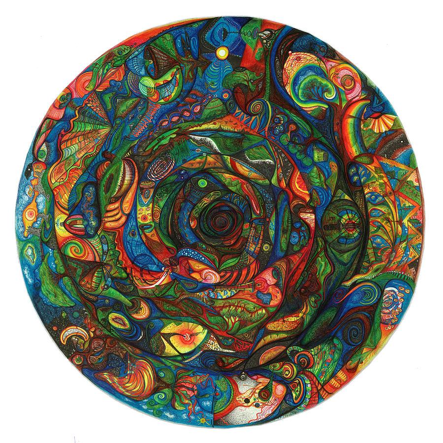 Spiral Drawing - Spiraea by Jonathan DiNo DiNapoli