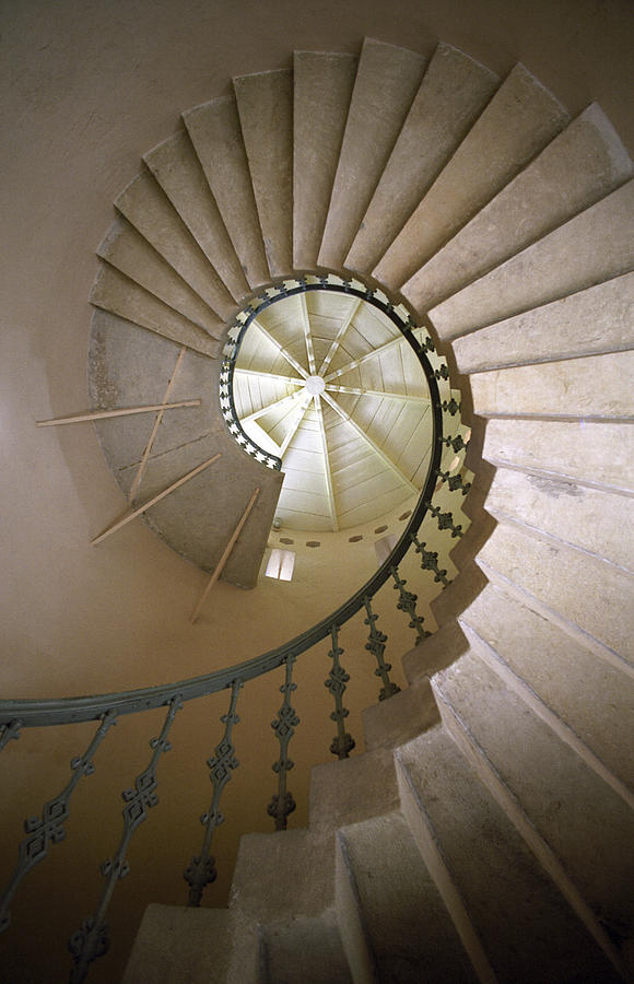 Spiral Stairs Photograph - Spiral Stairs - Krakow by Martin Cameron