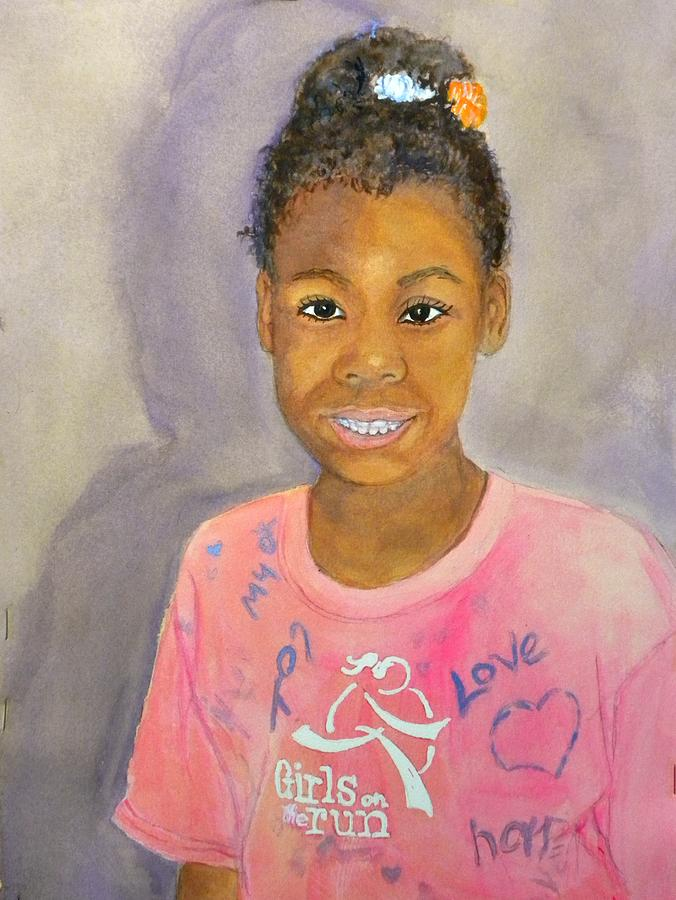 School Girl Painting - Spirit And Courage by Susan Lee Clark