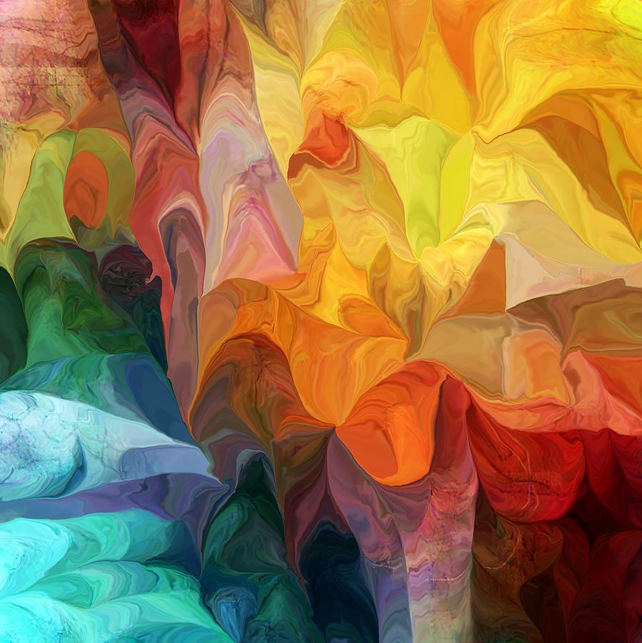 Abstract Digital Art - Spirit Journey by David Lane