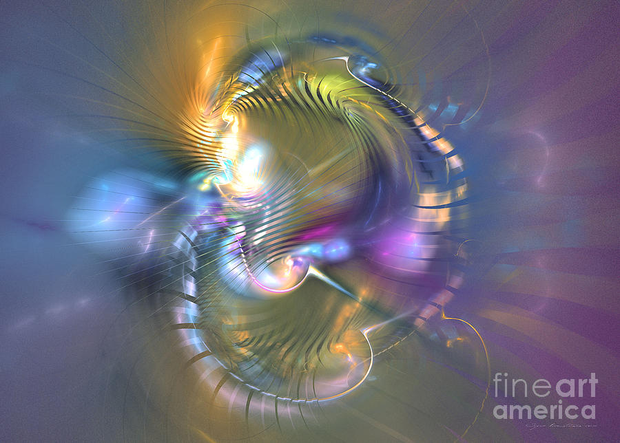 Fractal Digital Art - Spirit Of Nobility - Abstract Digital Art by Sipo Liimatainen