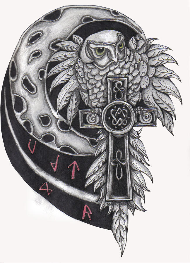 Graphite Drawing - Spirit Of The North by Ramona Hartley