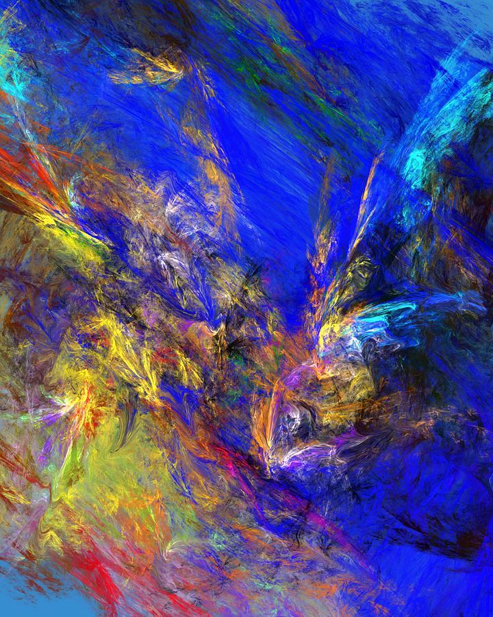 Abstract Digital Art - Spirits Over Bay by David Lane