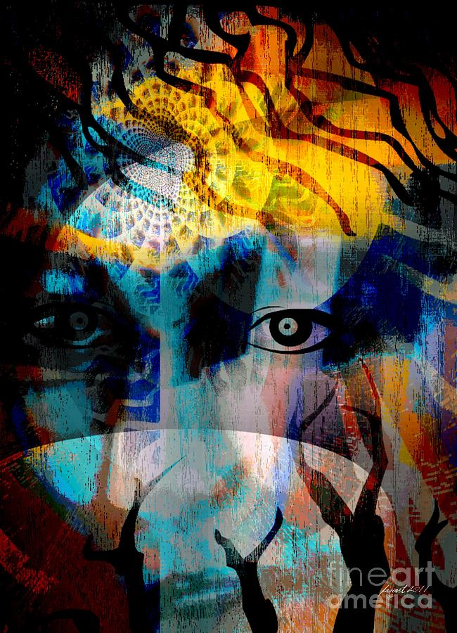 Wisdom Mixed Media - Spiritual Visitation by Fania Simon