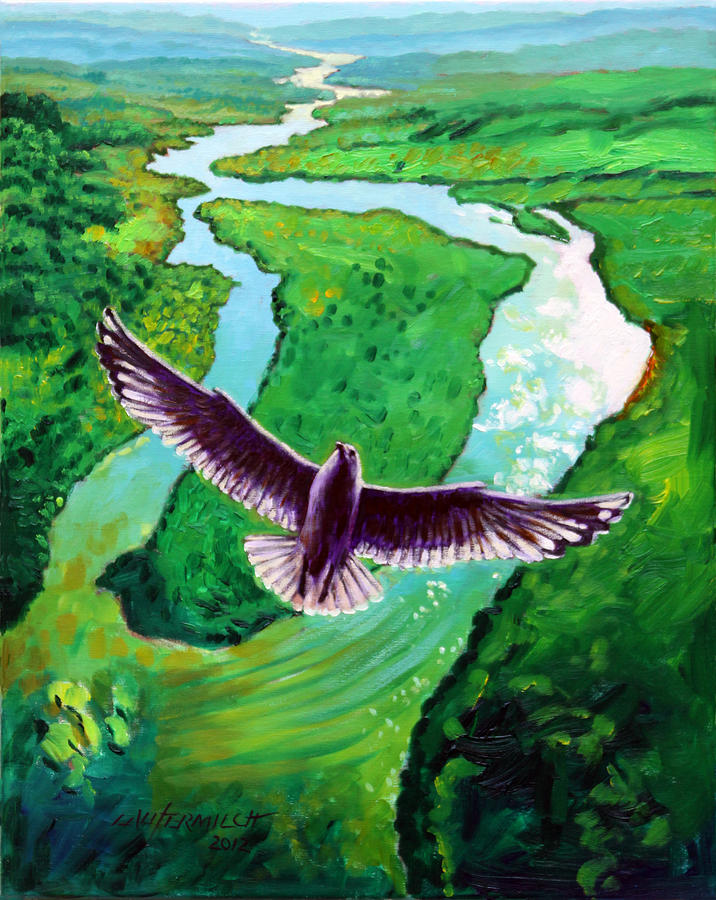 Seagull Painting - Spiritually Minded by John Lautermilch