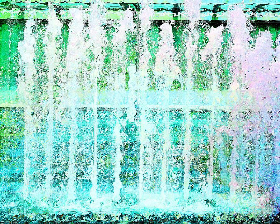 Fountain Photograph - Splash by Lizi Beard-Ward