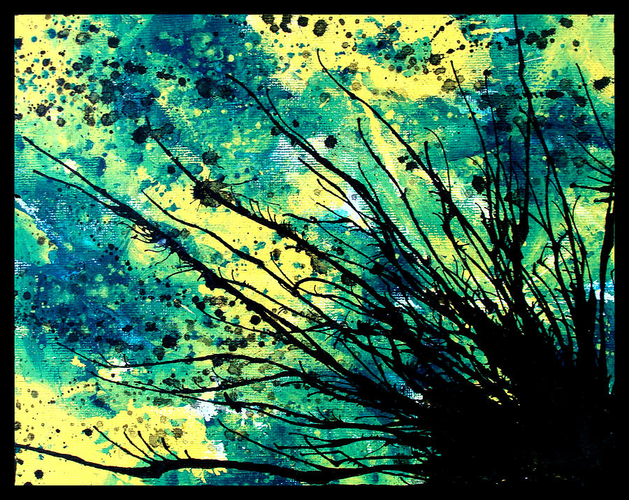 Gouache Painting - Splatter Roots 01 by Kalie Hoodhood