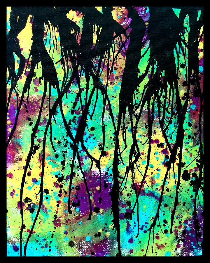 Gouache Painting - Splatter Roots 03 by Kalie Hoodhood