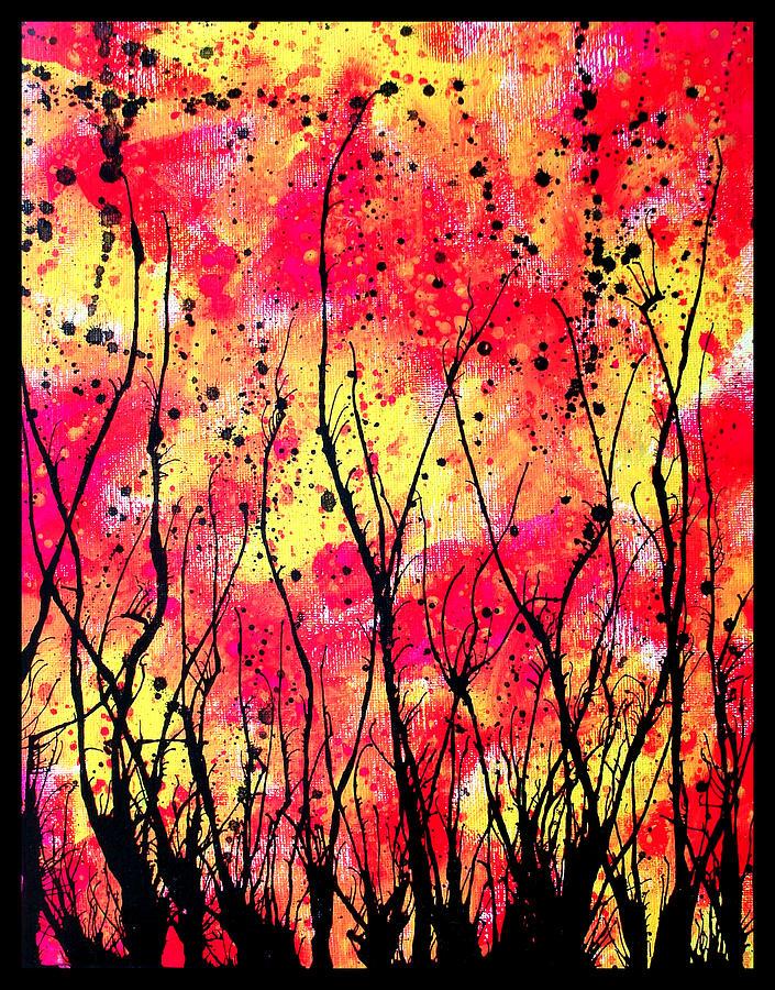 Gouache Painting - Splatter Roots 05 by Kalie Hoodhood