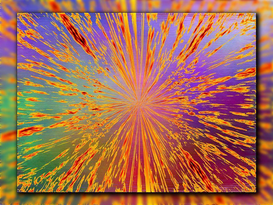 Abstract Digital Art - Splattered by Tim Allen