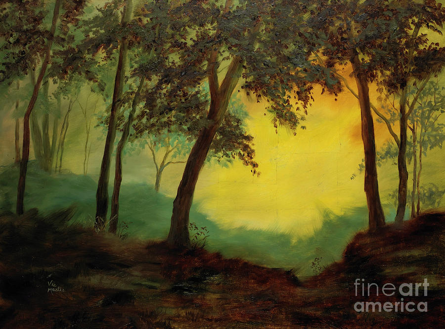 Trees Painting - Splendid Solitude by Vic  Mastis