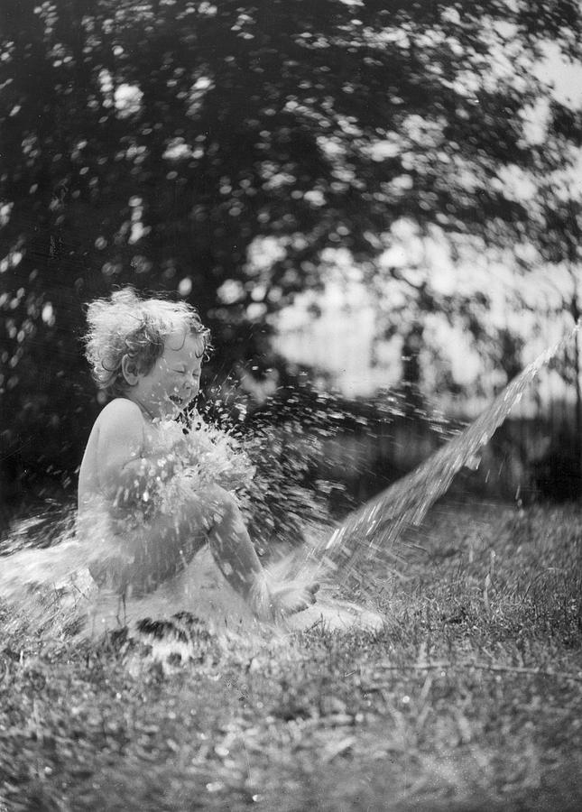Child Photograph - Splish Splash by Norman Smith