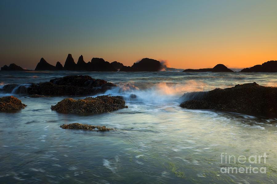 Seal Rock Photograph - Splitting The Gap by Mike  Dawson