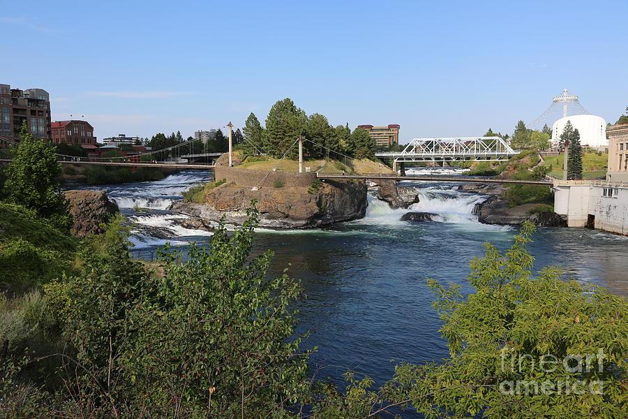 Spokane Photograph - Spokane Falls Hdr by Carol Groenen