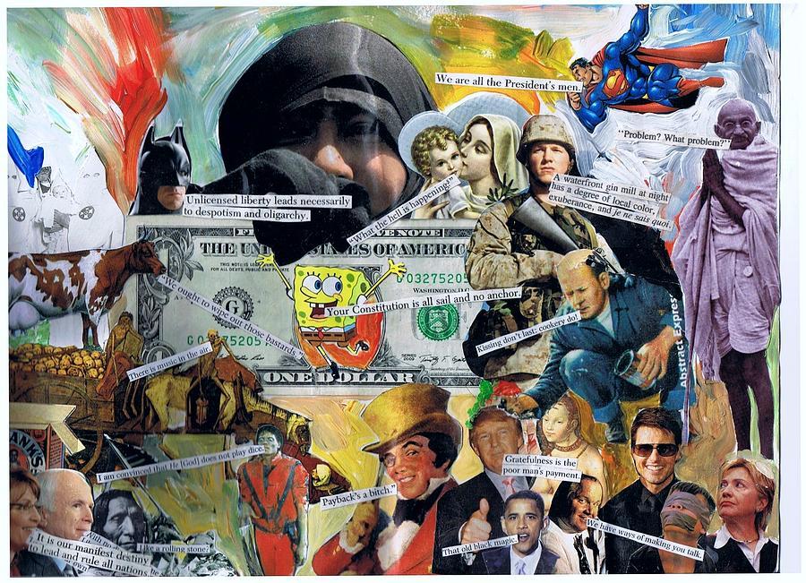 Superman Mixed Media - Sponge Bob by Frank Zabohonski