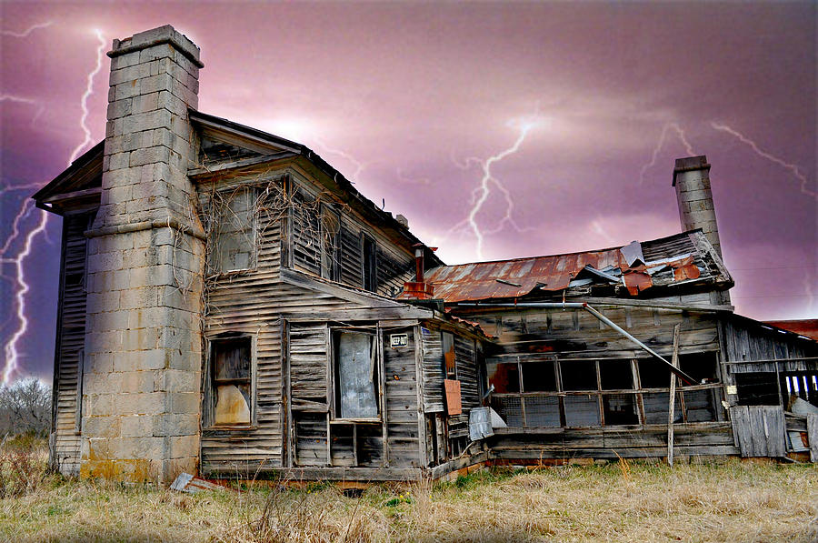 Haunted House Photograph - Spooky by Marty Koch