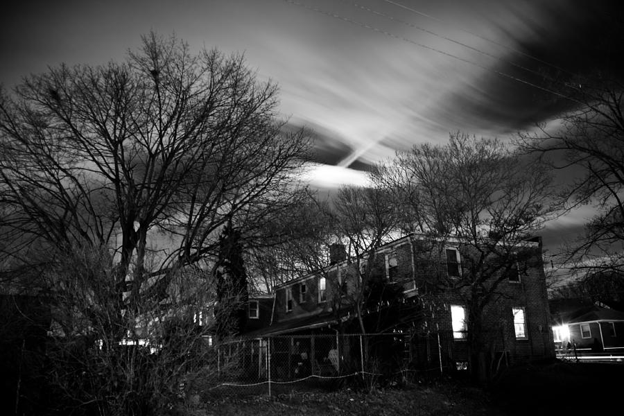 Black Photographs Photograph - Spooky Night by Ken Stachnik