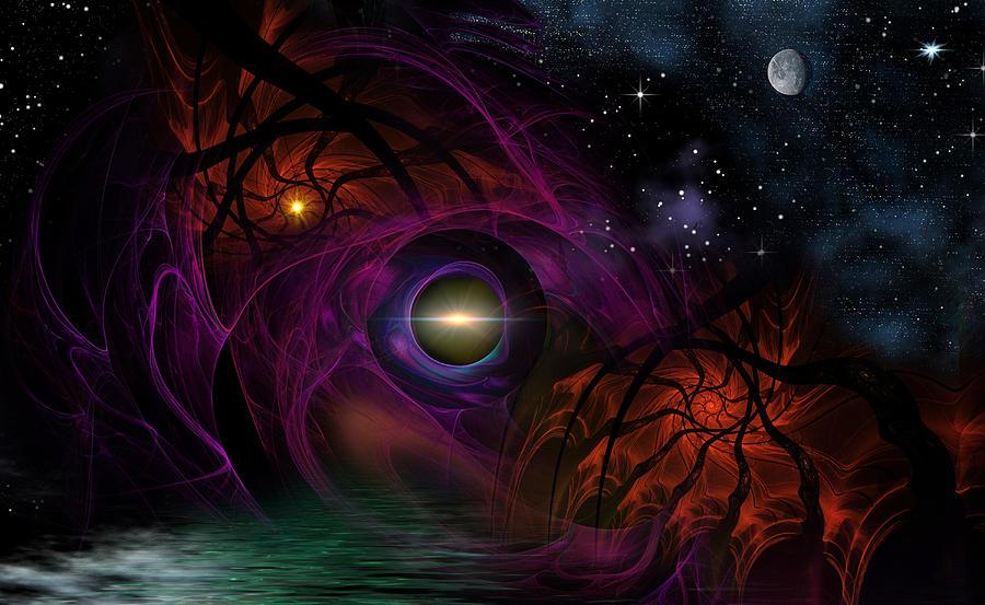 Space Digital Art - Spooky by Phil Sadler