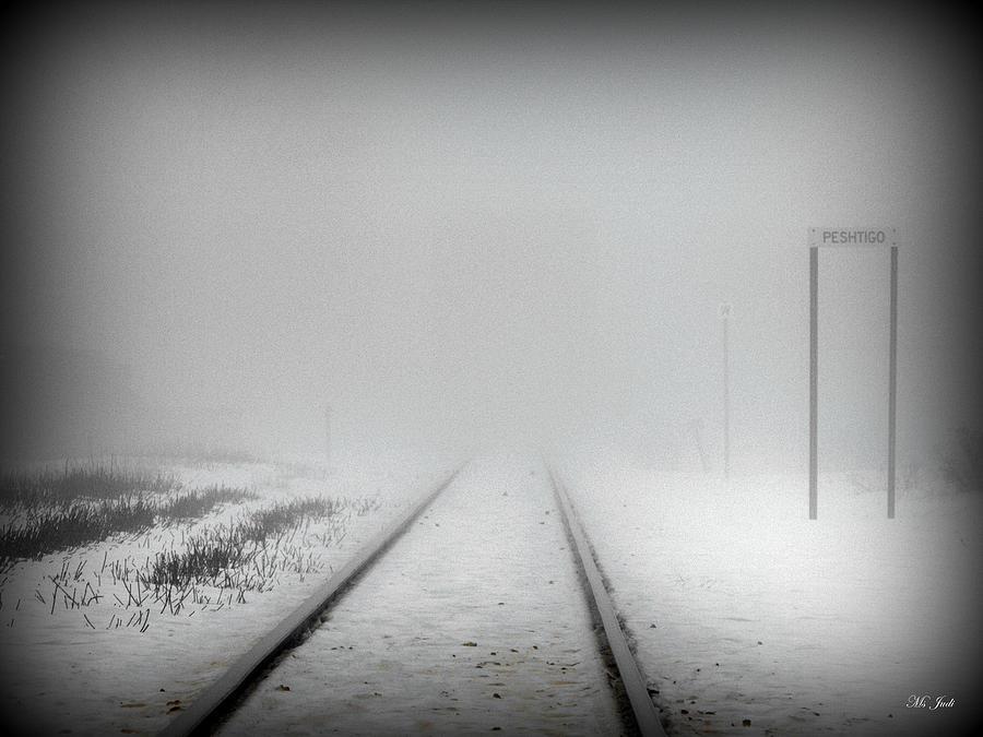 Tracks Photograph - Spooky Train Tracks by Ms Judi