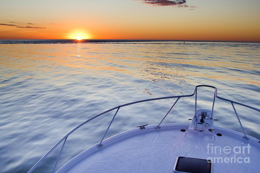 Sunrise Photograph - Sportfish Sunrise On The Atlantic by Dustin K Ryan