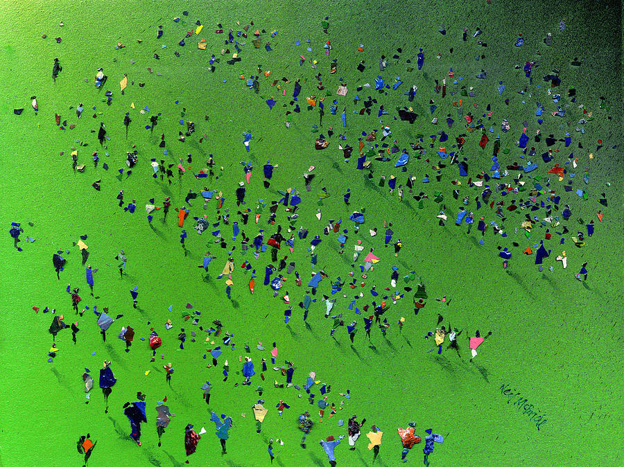Paint Painting - Sports Day by Neil McBride