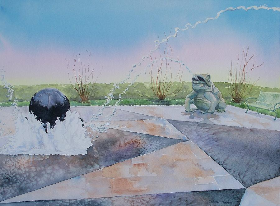 Fountain Painting - Spouting Off II by Celene Terry