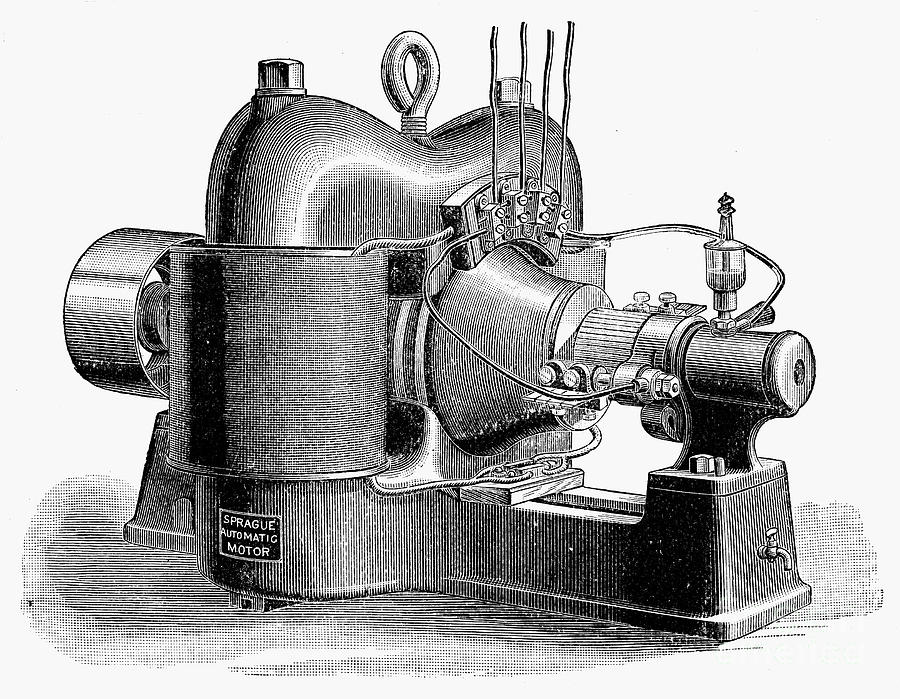 1890 Photograph - Sprague Motor, C1890 by Granger