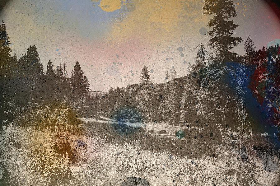 Landscape Digital Art - Sprayscape by Stephen Sly