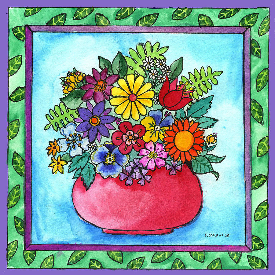 Bouquet Painting - Spring Bouquet by Pamela  Corwin