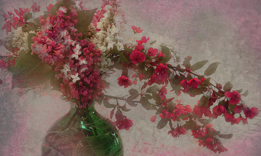 Vase Photograph - Spring Bouquet1 by Jeff Burgess