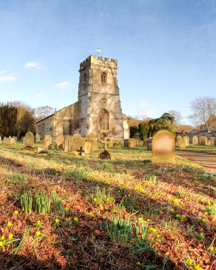 Church Of All Saints Photograph - Spring Churchyard by Sarah Couzens