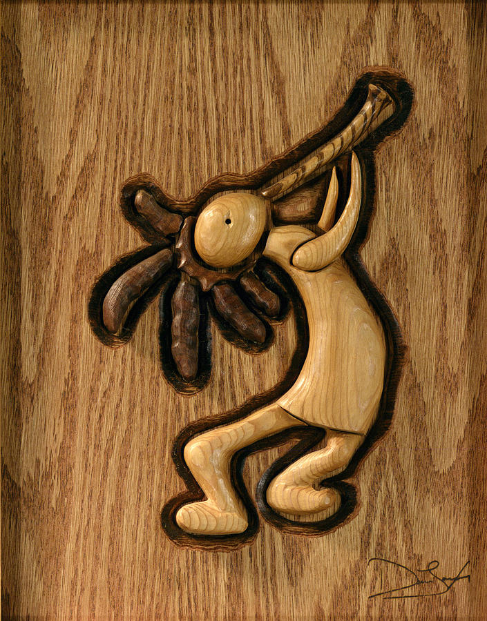 Kokopelli Relief - Spring Jam A by David Taylor