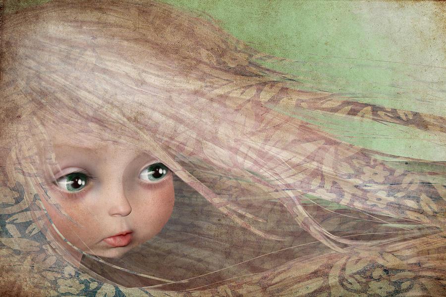 Little Girl Painting - Spring by Jessica Von Braun