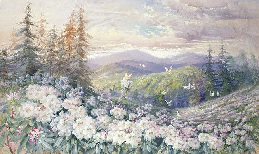 Spring Landscape Painting by Marian Ellis Rowan
