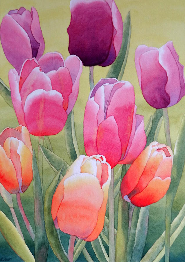 Tulips Painting - Spring by Laurel Best