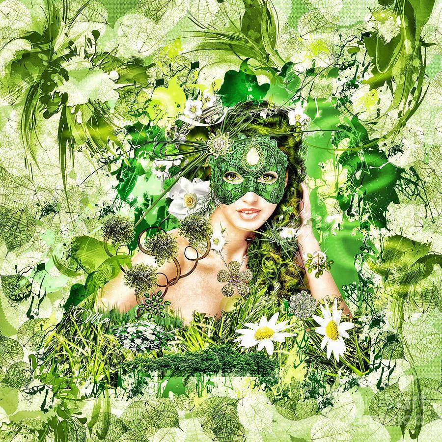 Spring Digital Art - Spring by Mo T