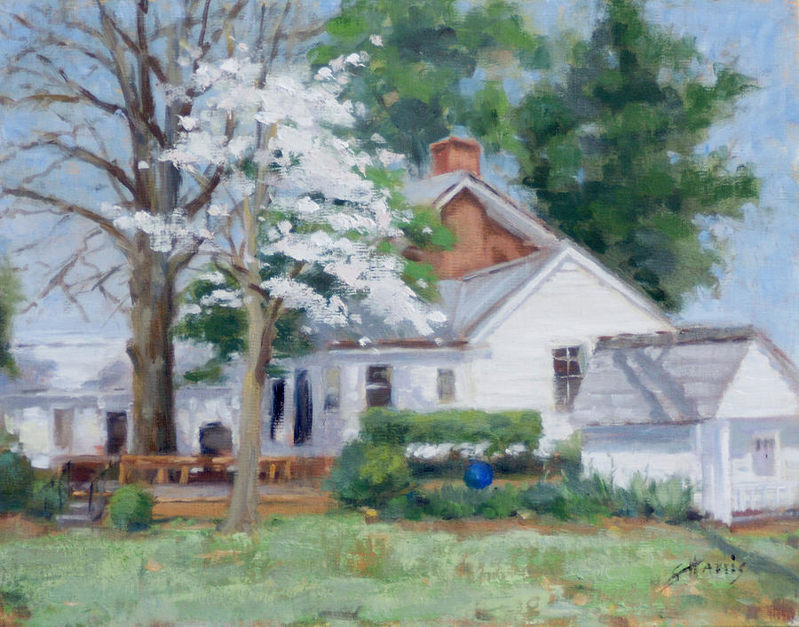 Brentwood Painting - Spring On Windy Hill by Sandra Harris