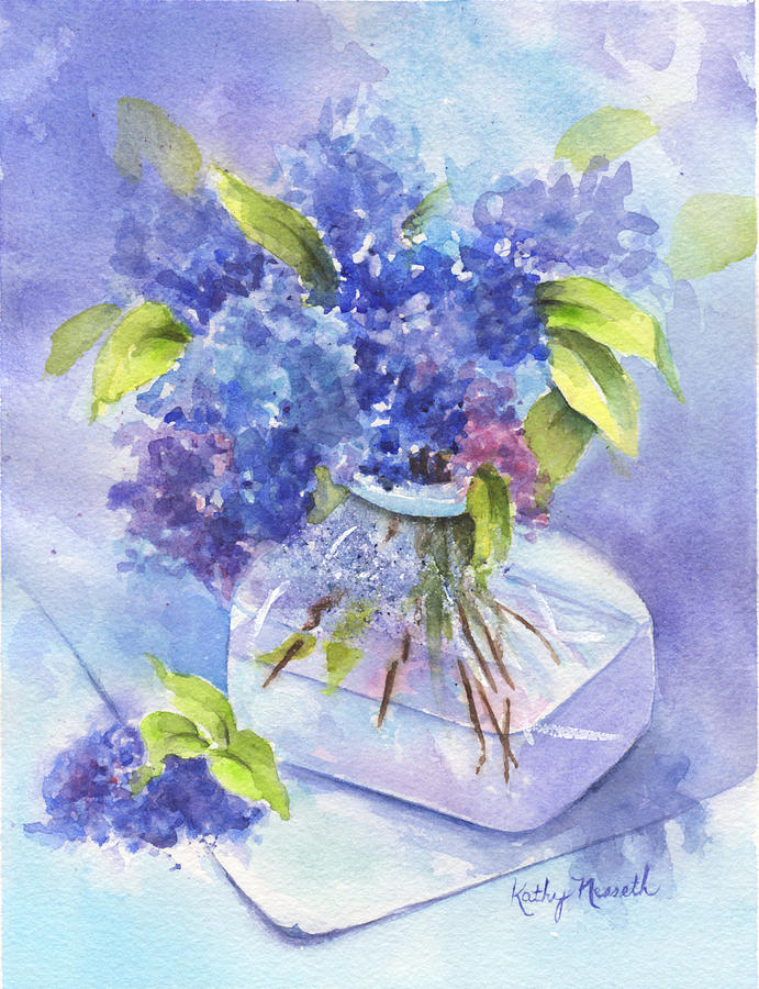 Watercolor Painting - Spring Romance by Kathy Nesseth