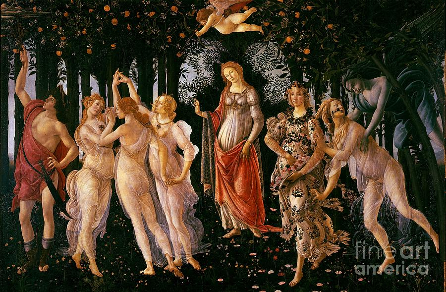 Angel Painting - Spring by Sandro Botticelli