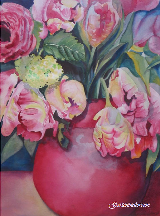 Tulips Painting - Spring by Stephanie Zobrist