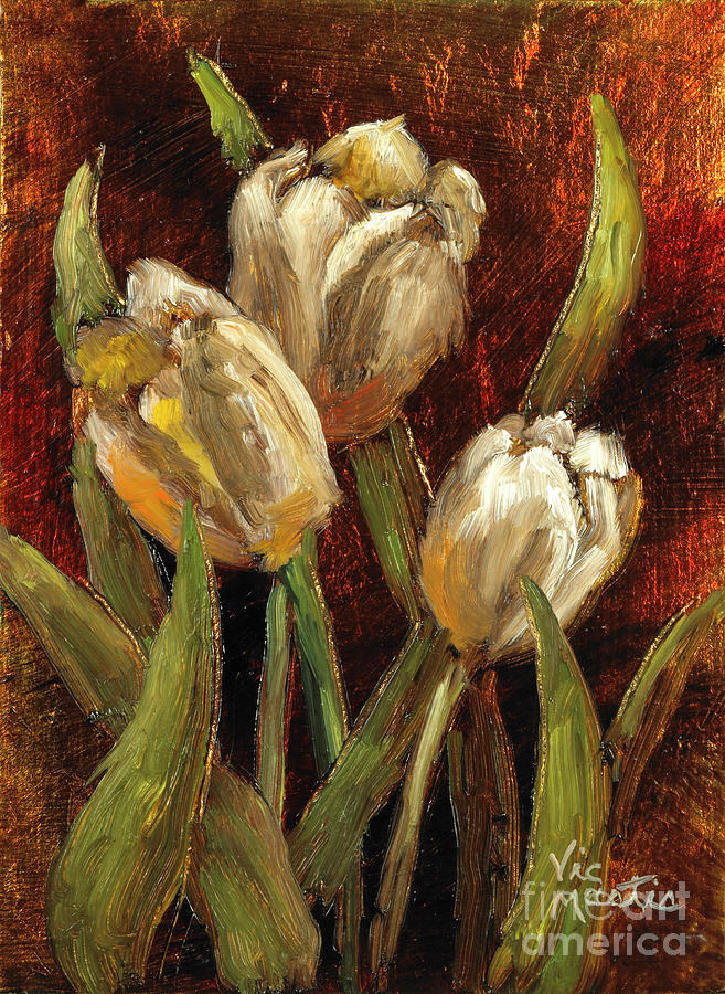 Tulips Painting - Spring Suprise by Vic  Mastis