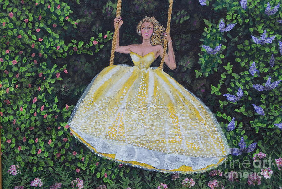 Rope Swing Painting - Spring Swing by William Ohanlan