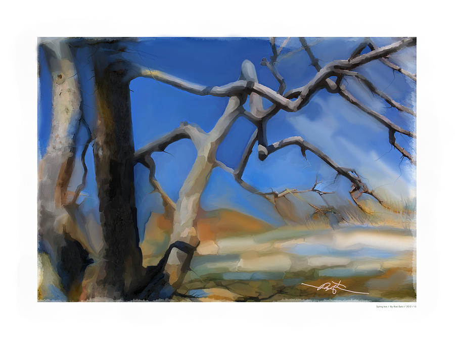 Winter Painting - Spring Thaw 1 by Bob Salo