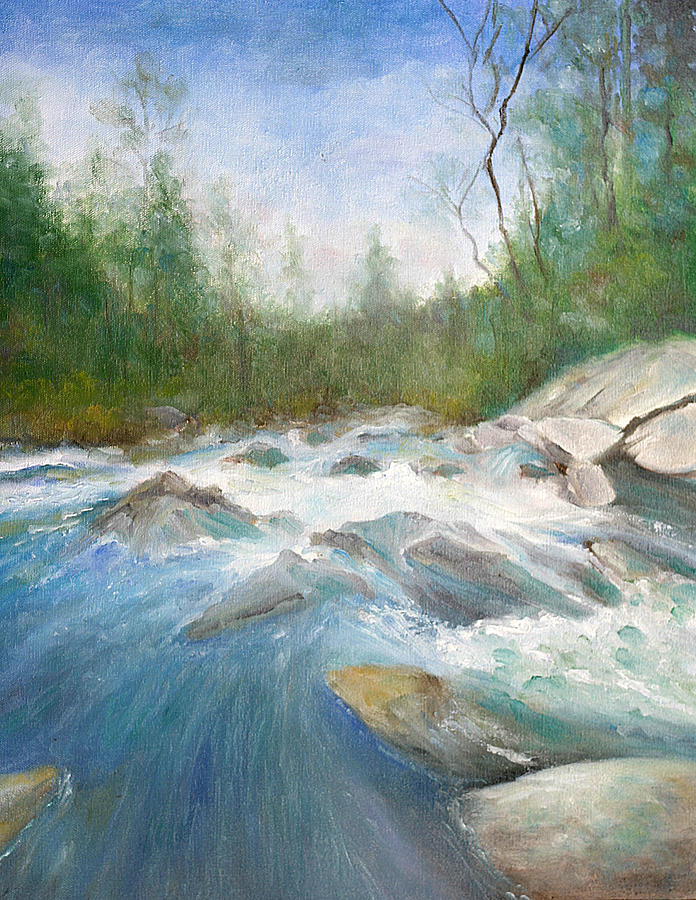 Mountain Stream Painting - Spring Thaw by Max Mckenzie