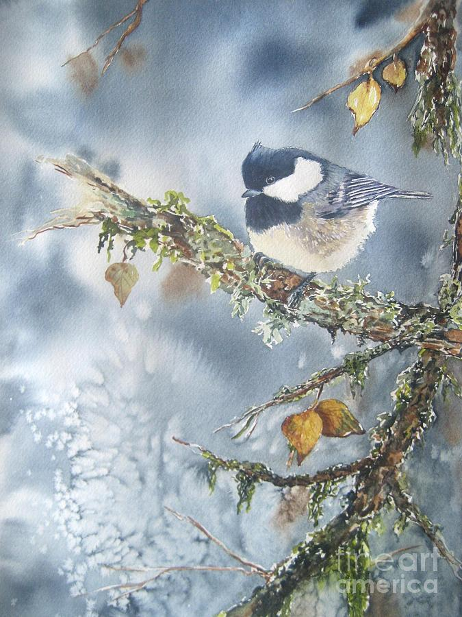 Chickadee Painting - Spring Thaw by Patricia Pushaw