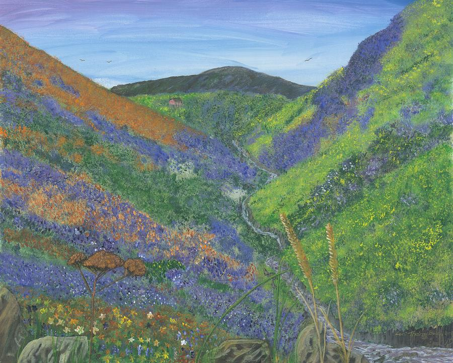 Landscape Painting Painting - Spring Time In The Mountains by Lori  Theim-Busch