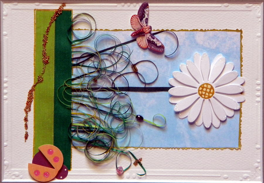 Flower Mixed Media - Springdaisy by Gracies Creations