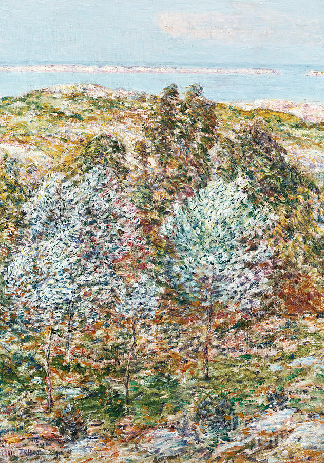 Tree Painting - Springtime Vision by Childe Hassam